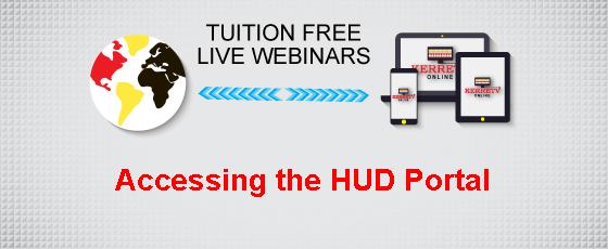 Accessing the HUD Portal