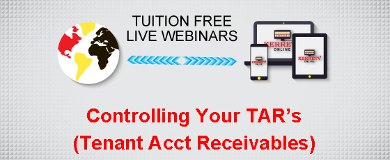 Controlling Your TAR's (Tenant Acct Receivables)
