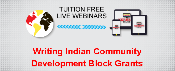 Writing Indian Community Development Block Grants