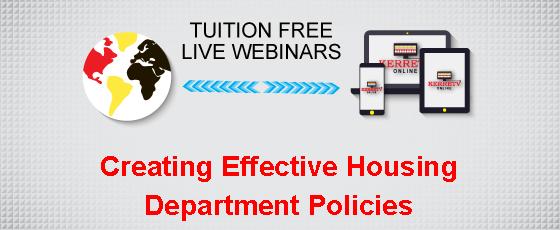 Creating Effective Housing Department Policies