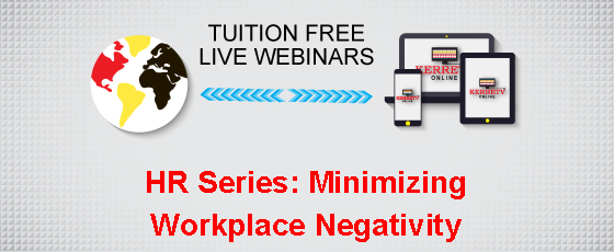 HR Series: Minimizing Workplace Negativity