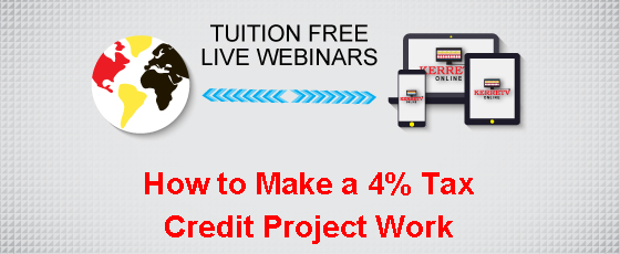 How to Make a 4% Tax Credit Project Work