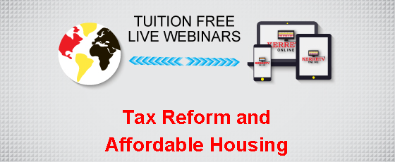 Tax Reform and Affordable Housing