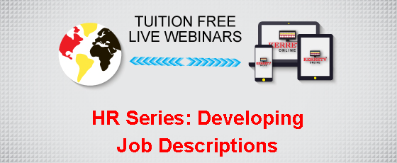 HR Series: Developing Job Descriptions