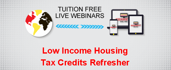 Low Income Housing Tax Credits Refresher