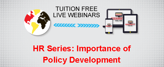 HR Series: Importance of Policy Development