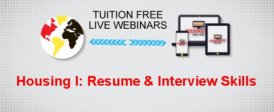Housing I: Resume & Interview Skills