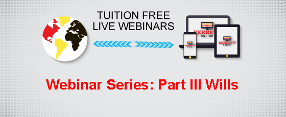 Webinar Series: Part III Wills