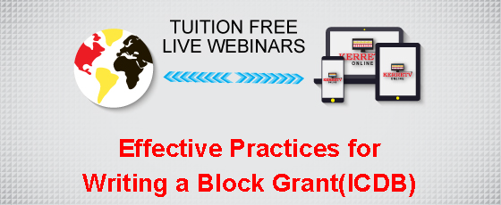 Effective Practices for Writing a Block Grant (ICDBG)