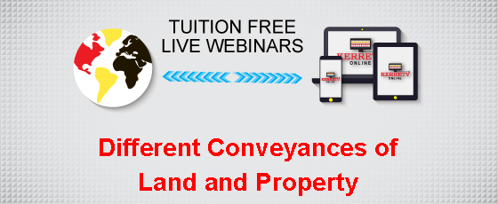 Different Conveyances of Land and Property